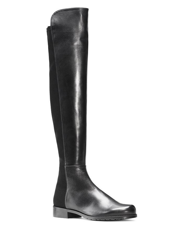 商品 5050 过膝长靴——黑色麂皮、亮皮款 图