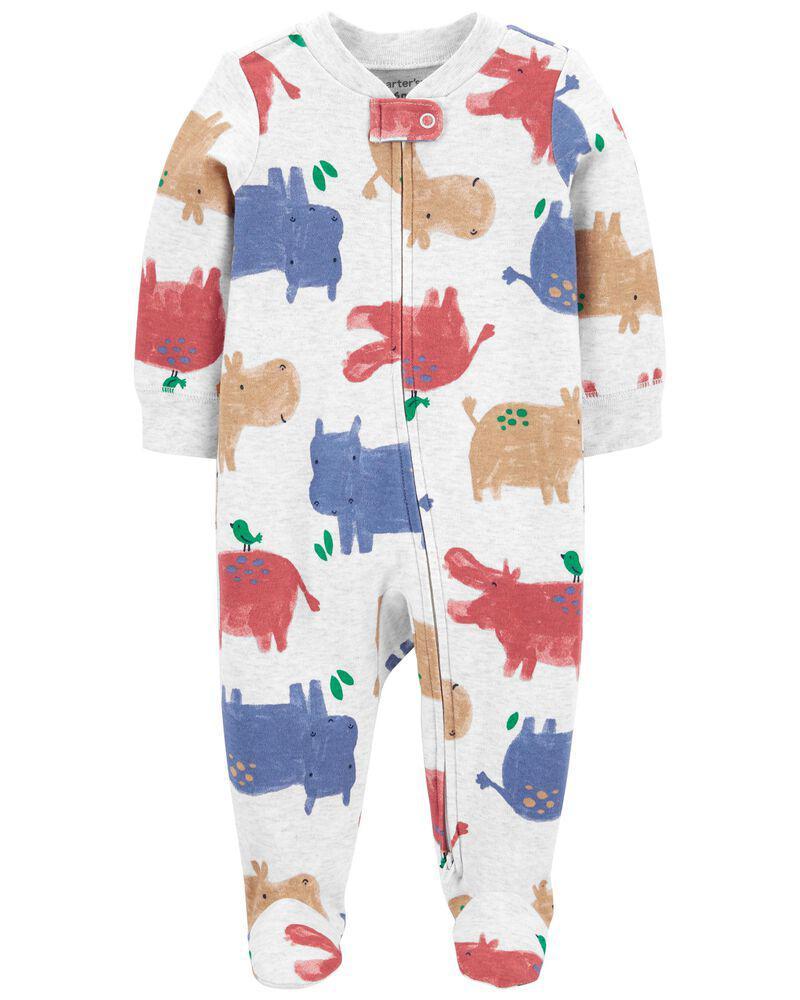 商品 Hippo 2-Way Zip Cotton Sleep & Play 图