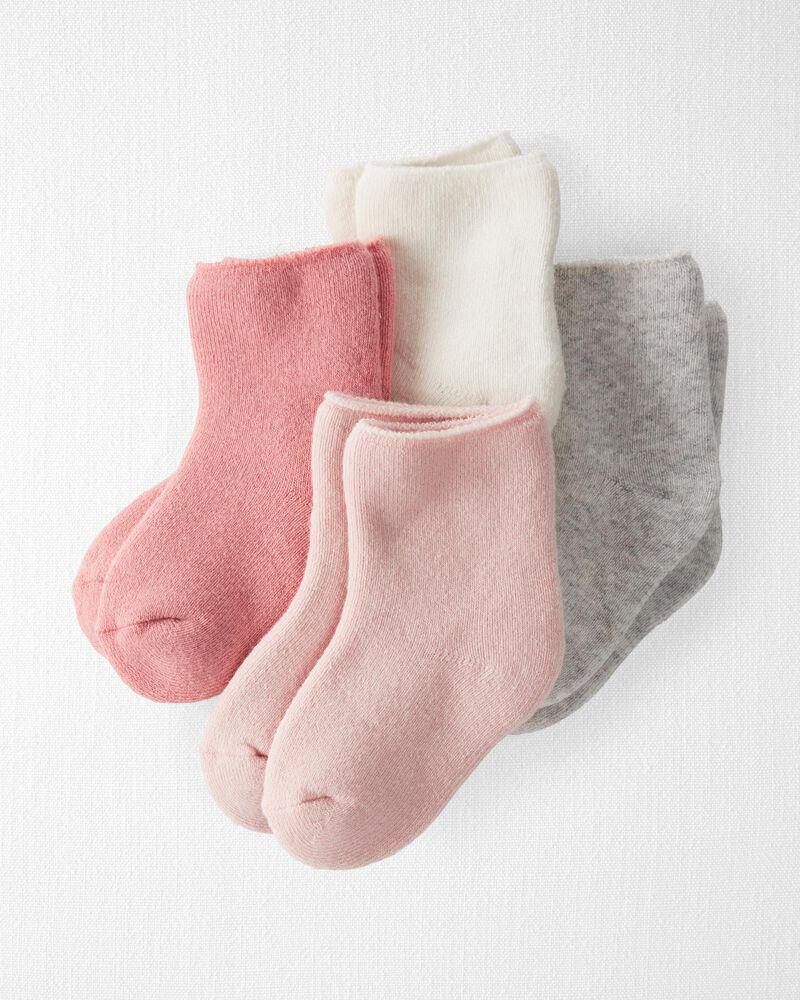 商品 4-Pack Organic Cotton Terry Socks 图