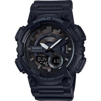 商品 Men's Analog-Digital Black Resin Strap Watch 50mm |包邮【S北美特拉华直发】 图