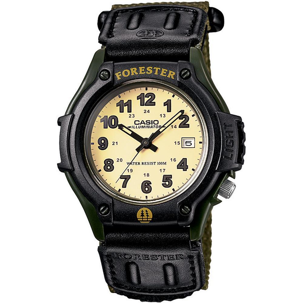 商品 卡西欧 Forester 复古森林人 日期显示 防水石英手表-绿色 图