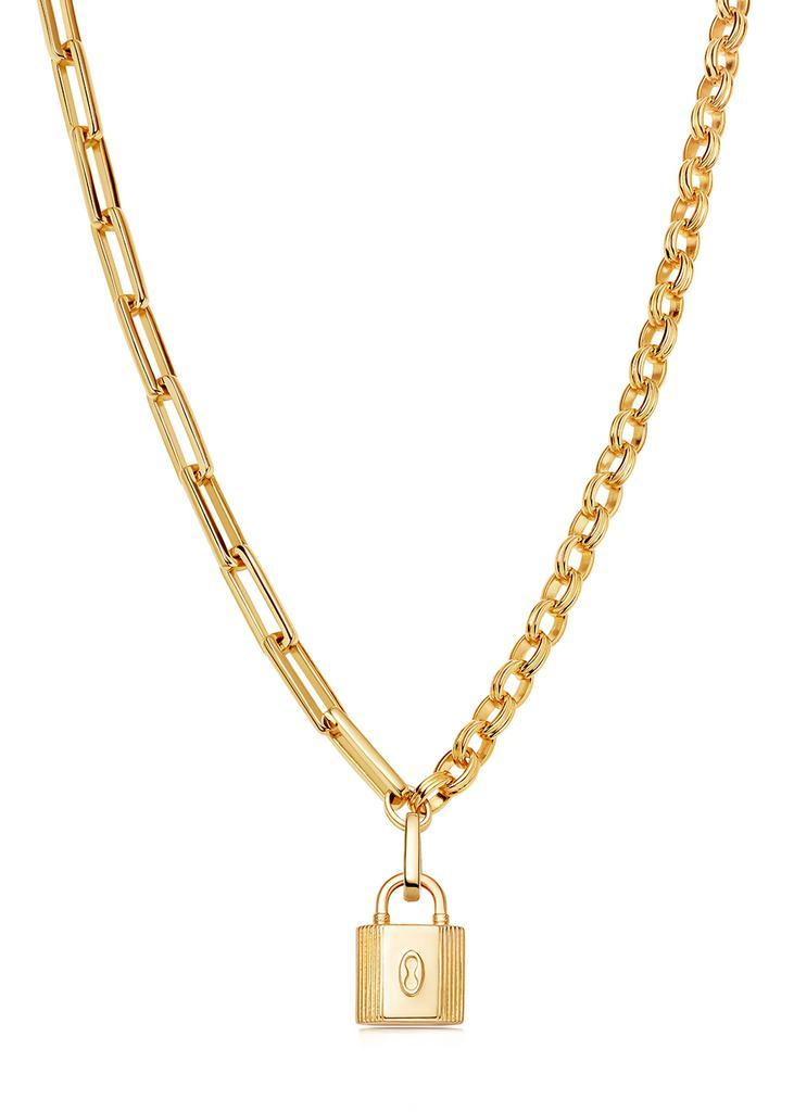 商品 Axion Ridge 18kt gold-plated necklace 图