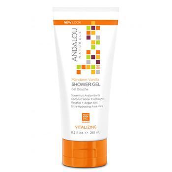 商品Andalou Naturals Body Vitalizing Shower Gel, Mandarin Vanilla - 8.5 Oz图片