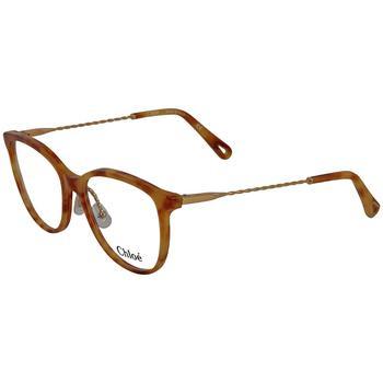 商品Chloe Ladies Tortoise Rectangular Eyeglass Frames CE2727 725 54图片