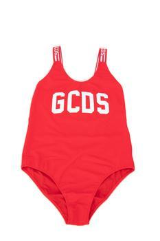 商品GCDS Kids Logo Printed Swimsuit - 14Y / Red图片