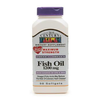 商品21St Century Omega 3 And 6 Fish Oil 1200Mg Softgels - 90 Ea图片