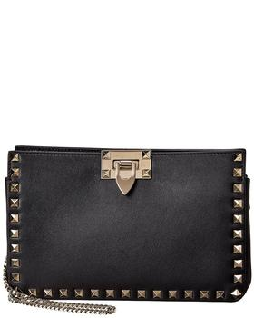 商品Valentino Rockstud Leather Shoulder Bag图片