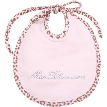 商品Blumarine Pink Bib For Baby Girl With Logo图片