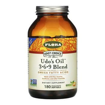 商品Flora Udos Choice Oil 3 6 9 Bled Omega Fatty Acids Capsules, 180 Ea图片