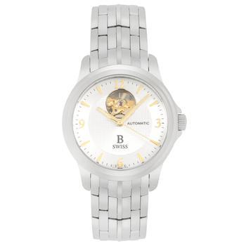 商品B Swiss By Bucherer Prestige Open Heart Automatic Men's Watch 00.50501.08.16.22图片