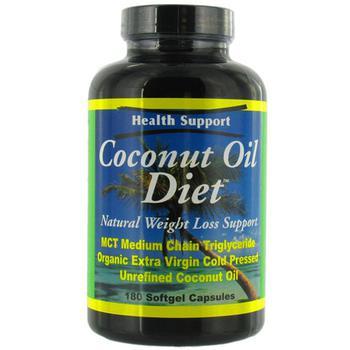 商品Health Support Coconut Oil Diet Softgels, Caffeine Free  - 180 Ea图片