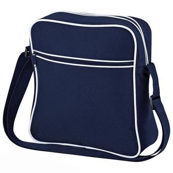 商品Bagbase Retro Flight / Travel Bag (1.8 Gallons) (Pack of 2) (French Navy/White) (One Size)图片