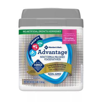 商品Member's Mark Advantage Non-GMO with 2'-FL HMO Infant Formula Powder with Iron (48 oz.)图片