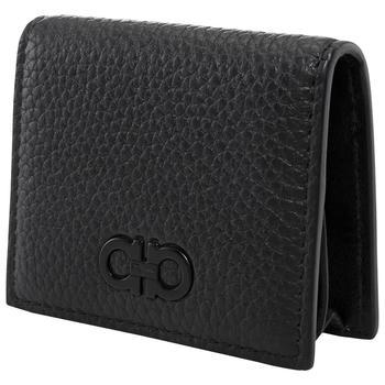 商品Salvatore Ferragamo Black Leather Gancini Coin Case图片