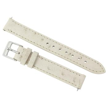 商品Hadley Roma 14 MM Winter White Ostrich Leather Strap图片