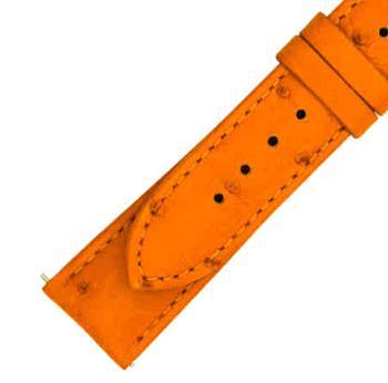 商品Hadley Roma 21 MM Matte Tan Ostrich Leather Strap图片