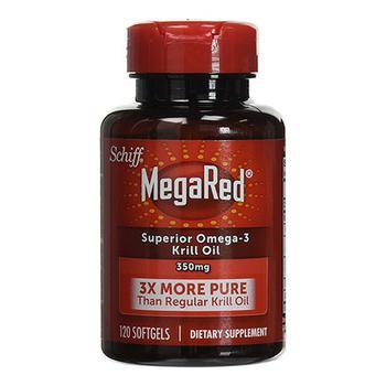 商品Schiff Megared Superior Omega 3 Krill Oil 350 Mg Softgels, 120 Ea图片