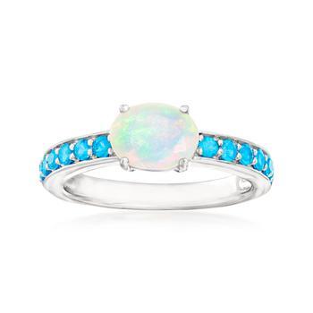 商品Ross-Simons Ethiopian Opal and Apatite Ring in Sterling Silver图片