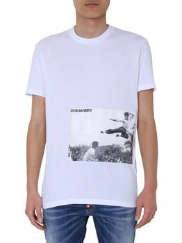 商品Dsquared2 Graphic Print Crewneck T-Shirt - M / White图片