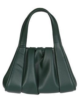 商品Themoirè Gather Detailed Tote Bag - Only One Size / Green图片