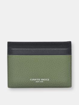 商品Duotone Olive Green Leather Cardholder图片