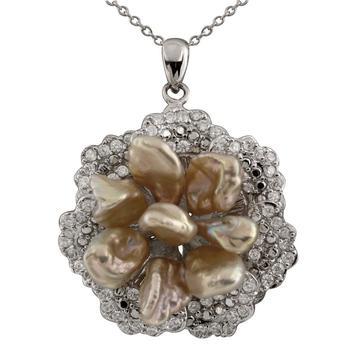 商品Bella Pearl Sterling Silver Keshi Pearl Pendant图片