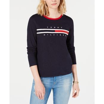 商品Cotton Long-Sleeve Logo T-Shirt, Created for Macy's图片