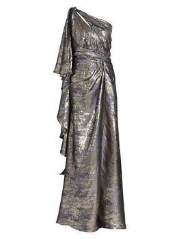 商品Draped One-Shoulder Gown图片
