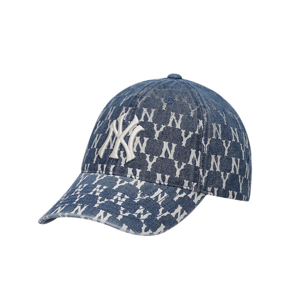 商品【韩国直邮|包邮包税】MLB 丹宁老花渐变棒球帽运动鸭舌帽 蓝色图片