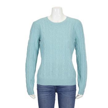 商品Polo Ralph Lauren Ladies Cashmere Cable Knite Sweatern Green, Brand Size Small图片