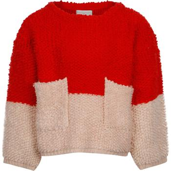 商品Knitted woolen sweater in red and pink图片