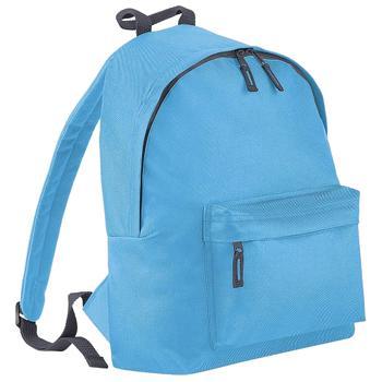 商品Beechfield Childrens Junior Big Boys Fashion Backpack Bags/Rucksack/School (Surf Blue/ Graphite grey) (One Size)图片