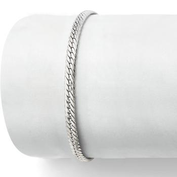 商品Ross-Simons Italian 14kt White Gold Cuban-Link Bracelet图片