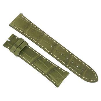 商品Hadley Roma 21 MM Matte Olive Alligator Leather Strap图片