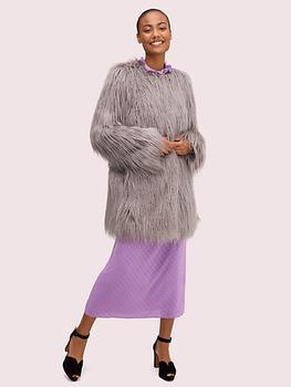 商品faux fur coat图片