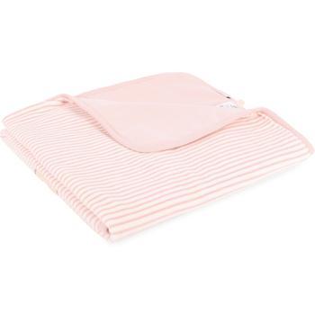 商品Striped baby blanket with logo bear in pink图片