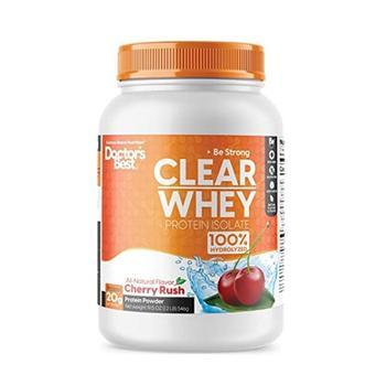 商品Doctors Best Clear Whey Protein Isolate Powder Cherry Rush Flavor, 19.5 Oz图片