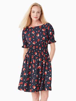 商品whimsy floral puff-sleeve blaire dress图片