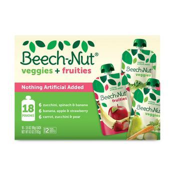 商品Beech-Nut Veggies and Fruities Stage 2 Baby Food, Variety Pack (3.5 oz. pouch, 18 ct.)图片