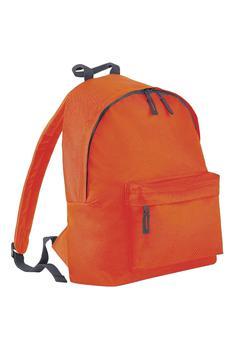 商品Beechfield Childrens Junior Big Boys Fashion Backpack Bags/Rucksack/School (Orange/ Graphite Grey) (One Size)图片