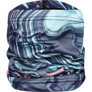 商品Abstract print tube scarf in blue图片