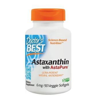商品Doctors Best Astaxanthin with Asta Pure Veggie Softgels 6 mg, 90 Ea图片