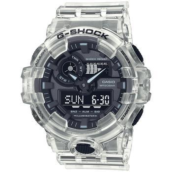 商品Men's Analog-Digital Clear Resin Strap Watch 53.4mm图片