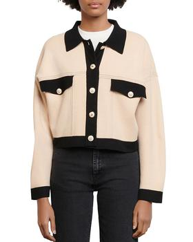 商品Cher Cropped Contrast-Trim 针织开衫图片