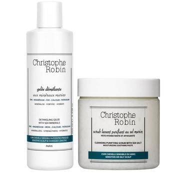 商品Christophe Robin 海盐洗发膏250ml + 凝胶护发素 250ml (总价值 $93)图片