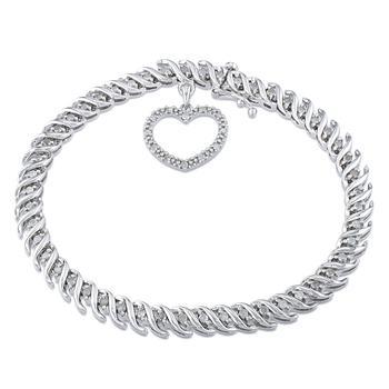 商品Amour 1 CT Diamond TW Bracelet Silver I3 Length (inches): 7图片