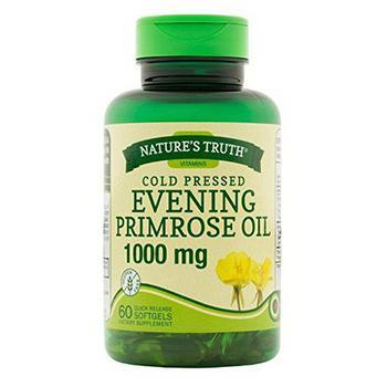 商品Natures Truth Vitamins Cold Pressed Evening Primrose Oil 1000 mg Softgels, 60 Ea图片