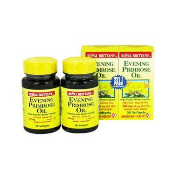 商品Royal Brittany Evening Primrose Oil For Womens Health - 50 Softgels图片