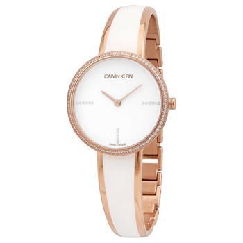 商品Calvin Klein Seduce Seduction Quartz Crystal White Dial Ladies Watch K4E2NX1T图片