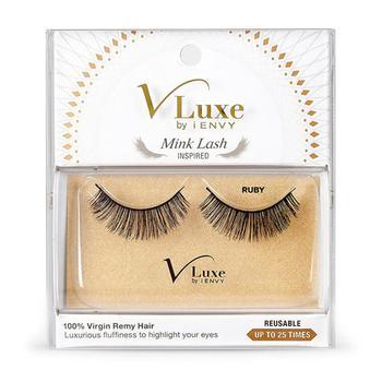 商品Kiss V Luxe By I Envy Mink Lash Inpired Ruby, False Eye Lashes, 1 Pair图片